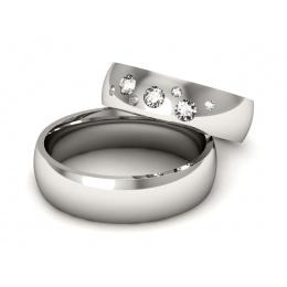 Platynowe obrączki ślubne, diamenty - S60180T7pt