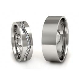 Obrączki ślubne z brylantami - P50145T36pt