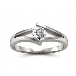 Pierścionek zaręczynowy,platyna, brylant  - P15006pt