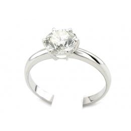 Platyna pierścionek z brylantem - P15043pt_br_SI_F
