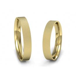 Obrączki żółte złoto klasyczne soczewkowe - s7zms