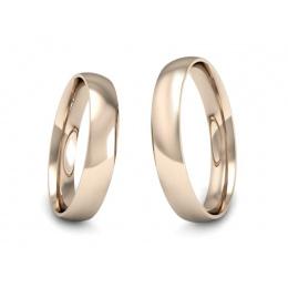 Obrączki różowe złoto ślubne klasyczne - s8c