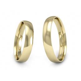 Obrączki ślubne żółte złoto klasyczne soczewkowe - s8z