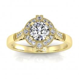 Pierścionek zaręczynowy z diamentami - 15098z