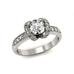 Pierścionek zaręczynowy, platyna, brylanty - P15114pt