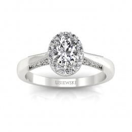 Pierścionek z białego złota z diamentami - p16020bbr_VS_H