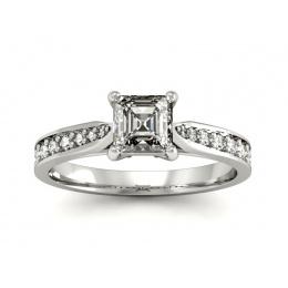 Pierścionek z diamentami, platyna - p16012pt