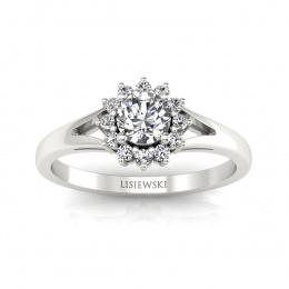 Pierścionek zaręczynowy z brylantami - 20052b
