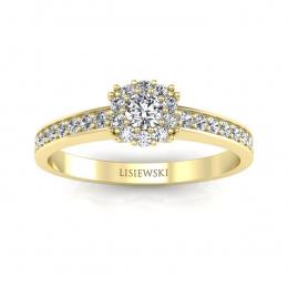 Pierścionek zaręczynowy z brylantami - p16028z
