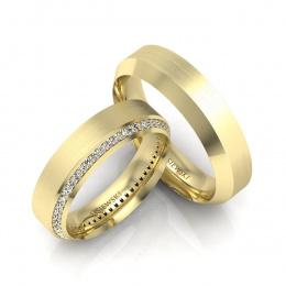 Obrączki ślubne żółte złoto z brylantami - S50200T46zmp