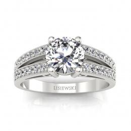 Pierścionek zaręczynowy z brylantami - p16027b