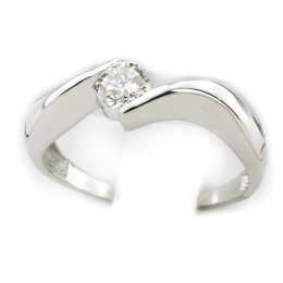 Pierścionek zaręczynowy z platyny z brylantem - pt7786br_Vs1_H
