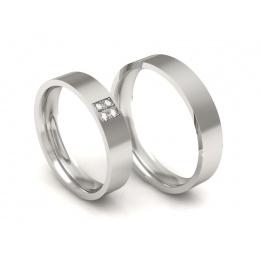 Ślubne obrączki platyna brylanty - P40145255pt