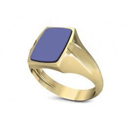 Złoty sygnet męski żółte złoto z sygnetówką - sgp96
