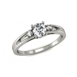 Pierścionek z platyny, brylanty - P15068pt