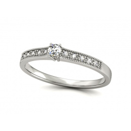 Platyna pierścionek z platyny z brylantami - p16042pt