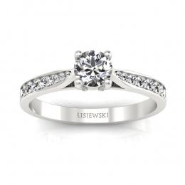 Platynowy pierścionek z brylantami - p16013pt