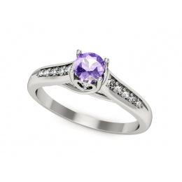 Platynowy pierścionek z tanzanitem i brylantami - P15062pt_t