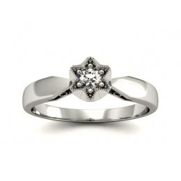 Platynowy pierścionek zaręczynowy z brylantem - p16003pt