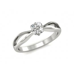 Platynowy pierścionek zaręczynowy, diament - P15076pt
