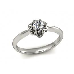 Platynowy pierścionek z platyny z brylantem - P15115pt