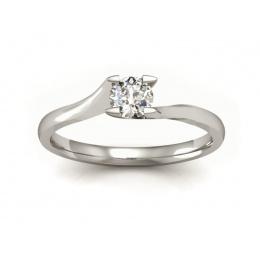 Platynowy pierścionek z brylantem - P15113pt