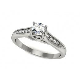 Platynowy pierścionek zaręczynowy z brylantami - P15062pt