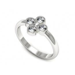Pierścionek z platyny z diamentami - ptw00016br