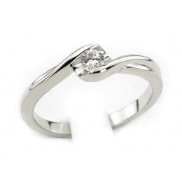 Platynowy pierścionek platyna z brylantem - pt530bbr_VS_H