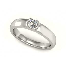 Pierścionek z platyny z diamentem - P15004pt