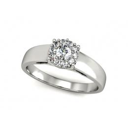 Pierścionek zaręczynowy z platyny, brylant - p15082pt
