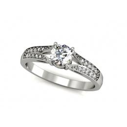 Pierścionek zaręczynowy, brylanty, platyna - P15084pt_VS_G