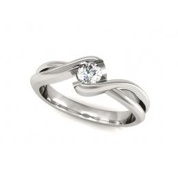 Platynowy pierścionek platyna z brylantem - 739bbr_pt