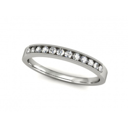 Pierścionek z platyny z brylantami - p16062pt