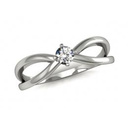 Pierścionek zaręczynowy , brylant - p16069pt