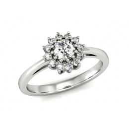 Platynowy pierścionek z brylantami - P16040pt