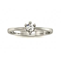 Pierścionek zaręczynowy z brylantem, platyna- 40004pt