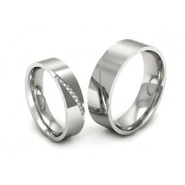 Ślubne obrączki z platyny z brylantami - s314pt