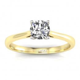 Złoty pierścionek z diamentem i rubinem - p16205zbr