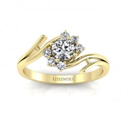 Pierścionek zaręczynowy z brylantami - P15244z