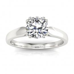 Złoty pierścionek z brylantami - p15259b