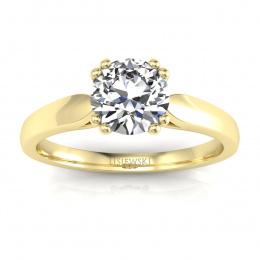 Złoty pierścionek zaręczynowy z brylantami - p15259z