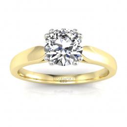Zloty pierścionek zaręczynowy z diamentami - p15259zb