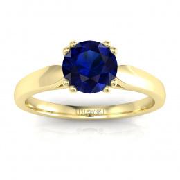 Zloty pierścionek zaręczynowy z szafirem - p15259zsz