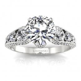 Złoty pierścionek z diamentami - p15280b