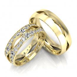 Obrączki z brylantami żółte złoto - S60170T53z