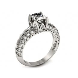 Zaręczynowy pierścionek, platyna, brylanty - p16141pt