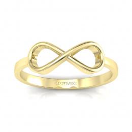 Pierścionek z żółtego złota. - p16287z