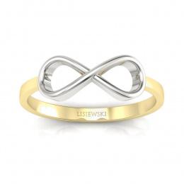 Pierścionek białe złoto żółte złoto - p16287zb