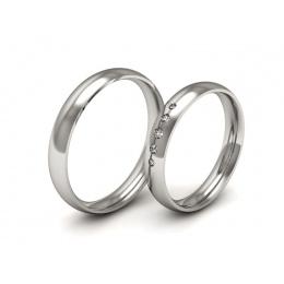 Ślubne obrączki platyna z brylantami - P35160T153pt